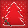 Photo 300 DPI: Christmas greeting card with tree