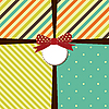 Greeting card with bow | Stock Illustration