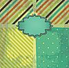 ID 3110653 | Retro-Hintergrund mit Streifen und Rahmen | Illustration mit hoher Auflösung | CLIPARTO