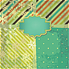 Photo 300 DPI: greeting retro background with stripes and snowflakes