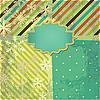ID 3110655 | Retro-Hintergrund mit Streifen und Schneeflocken | Illustration mit hoher Auflösung | CLIPARTO