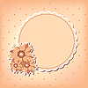 Greeting card with flower | Stock Illustration
