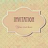 Photo 300 DPI: vintage invitation card