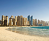 Beach in Dubai. Panoramic view | Stock Foto