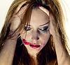 Emotionale Porträt der jungen Frau, Depression | Stock Foto