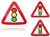 Photo 300 DPI: Variants Traffic light control road sign