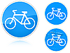 Vector clipart: Variants Bicycle path - road sign
