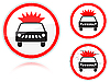 Vector clipart: Transportation of explosives and flammable substances