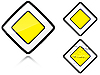 Vector clipart: Set of variants Main road - road sign