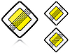 Vector clipart: Variants End of main road - road sign
