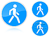 Vector clipart: Set of variants Footpath - road sign