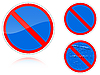 Vector clipart: Variants No parking - road sign