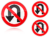 Vector clipart: U-Turn forbidden - road sign