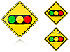 Vector clipart: Variants Traffic lights - road sign