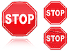 Vector clipart: Set of Stop road signs