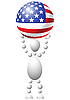 Vector clipart: Man with ball as US flag