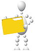 Vector clipart: Man with yellow folder