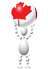 Vector clipart: Man with ball as Canada flag