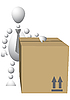 Vector clipart: Man with brown cardboard box