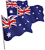 Commonwealth of Australia 3d flag. | Stock Vector Graphics