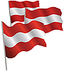 Austria 3d flag. | Stock Vector Graphics
