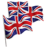 Великобритания 3d флаг | Векторный клипарт