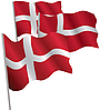 Vector clipart: Kingdom of Denmark 3d flag.