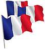 Vector clipart: France 3d flag