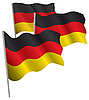 Vector clipart: Germany 3d flag