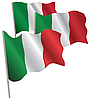 Italy 3d flag | Stock Vector Graphics