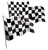Vector clipart: Racing-sport finish 3d flag