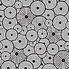Vector clipart: Black-and-white background with circles
