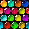 Vector clipart: Background with glass multicolor balls