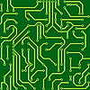 Vector clipart: Background with conductor on computer circuit board