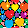 background with multicolor hearts