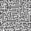Vector clipart: Black-and-white background with complex maze