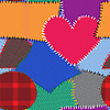 Vector clipart: background with motley textile patches