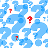 Vector clipart: background with question marks