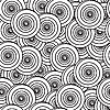 Векторный клипарт: Черно-белый фон с кругами