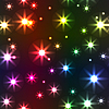 Vector clipart: background with motley stars
