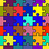 Vector clipart: Motley background with puzzle