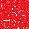 Vector clipart: Valentine's day seamless background with hearts