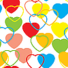 Vector clipart: Valentine`s day seamless background