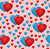 Vector clipart: Valentine's day seamless background
