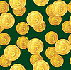 Vector clipart: seamless pattern with dollar coins