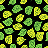 Vector clipart: background of green leaves