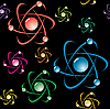 Vector clipart: background with symbol of atom