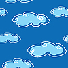 Vector clipart: blue cloud background