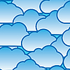 Vector clipart: day clouds background