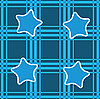 Vector clipart: seamless background with blue stars